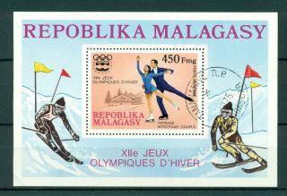 Madagascar 1976 M/sheet Winter Olympic Games - Mi.  Bl13 photo