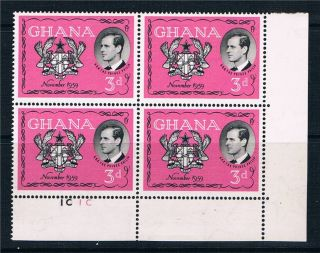 Ghana 1959 Visit Duke Of Edinburgh Pl.  Blk Sg 233 photo