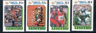 Lesotho 1990 Olympic Games Sg 984/7 photo