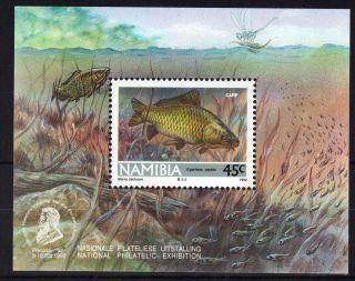 Namibia Swa 1992 Fishes Philatelic Mini Sheet Unmounted Ref:y541 photo