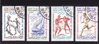 Morocco 1960 Rome Summer Olympics Fencing Sailing Boxing And Track Nhvf Cto photo