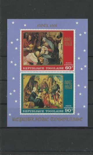 1211.  Togo 1968 Christmas S/s photo