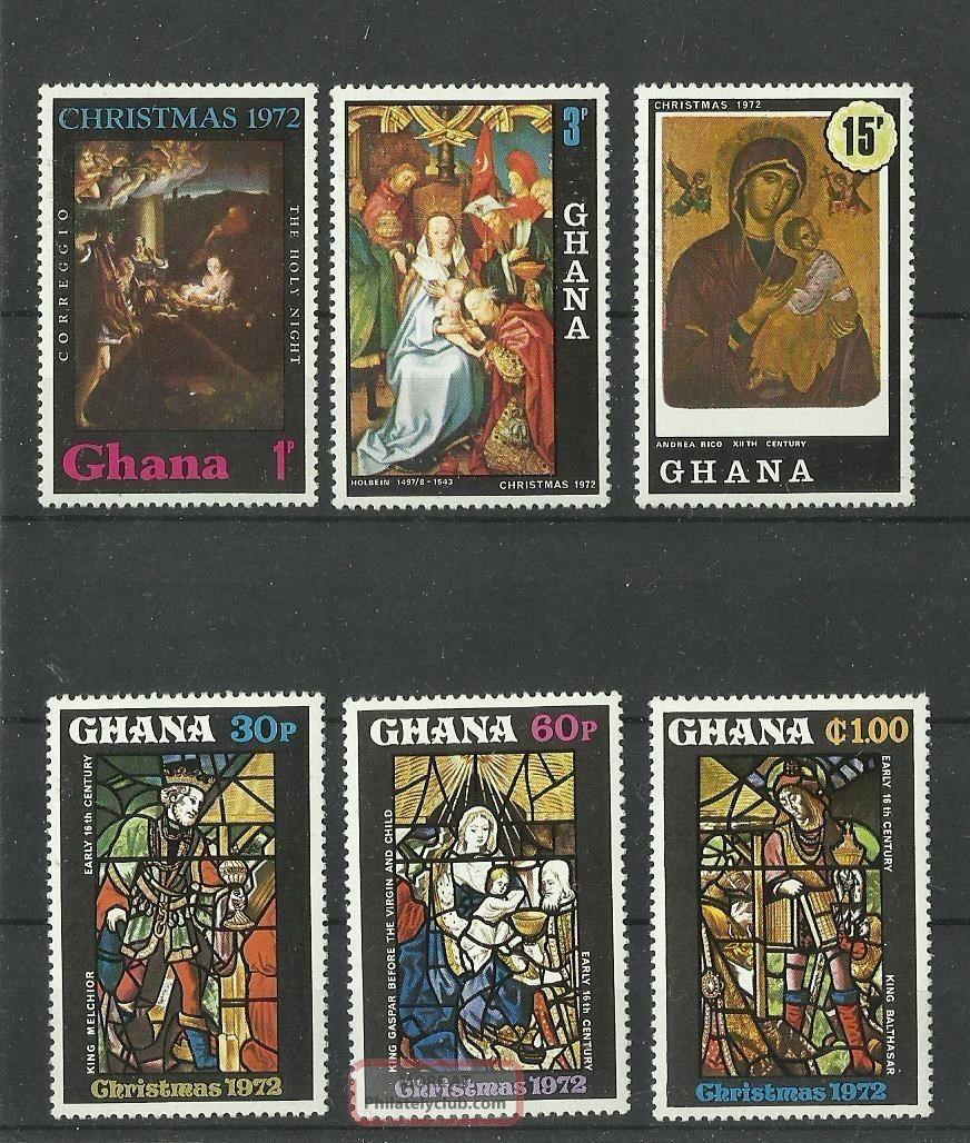 1325.  Ghana 1972 Christmas Africa photo