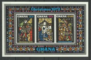 1326.  Ghana 1972 Christmas S/s photo