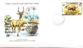 World Wildlife Fund First Day Cover - The Gambia - Sitatunga - Issue No 34 photo