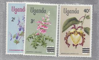 Uganda 1975 Sc 130 - 132 Flowers photo