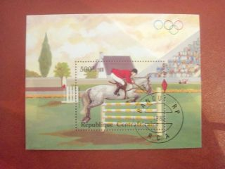 Central Africa 1984 500 F Mini Sheet Olimpic Games Los Angeles photo