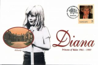 (50775) First Day Cover: Princess Diana Death - 1998 - Vanuatu photo