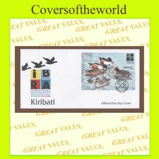 Kiribati 199 Nurnberg Exhibition,  Ducks Miniature Sheet First Day Cover photo