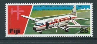 Fiji Sg534 1976 25c Aircraft photo