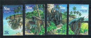 Niue 2001 Coconut Crabs Sg 898 - 901 photo