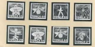 Tonga - 1995 - Bromide Setorchids Sc 907 - 914 Merry Christmas & Happy 1996 - Og - photo