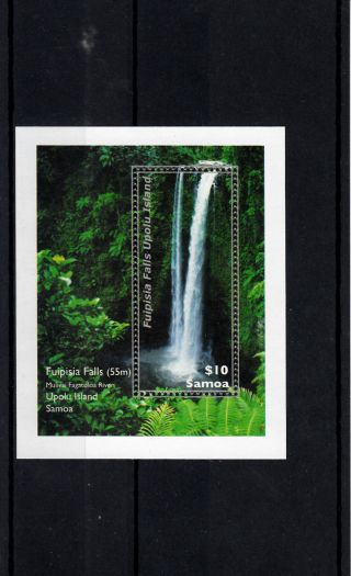 Samoa 2013 Waterfall 1v Sheet Fuipisia Falls Upolu Islands River Plants photo