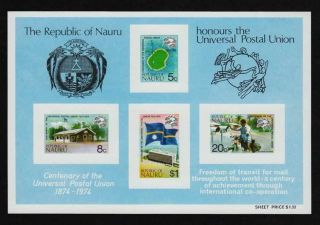 Nauru,  1974,  Sc 117a,  Souvenir Sheet,  S/s, .  A3174a3 photo