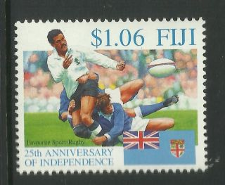 Fiji 1995 25th Anniversary Independence Single Rugby Value photo