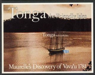 Tonga 489 - 92a Ships,  Map photo