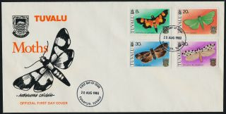 Tuvalu 138 - 41 Fdc Insects,  Moths photo