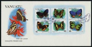 Vanuatu 346 - 8 Fdc - Butterflies photo