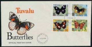 Tuvalu 146 - 9 Fdc Butterflies photo
