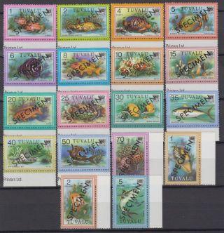 Specimen,  Tuvalu Sc96 - 113 Fish photo