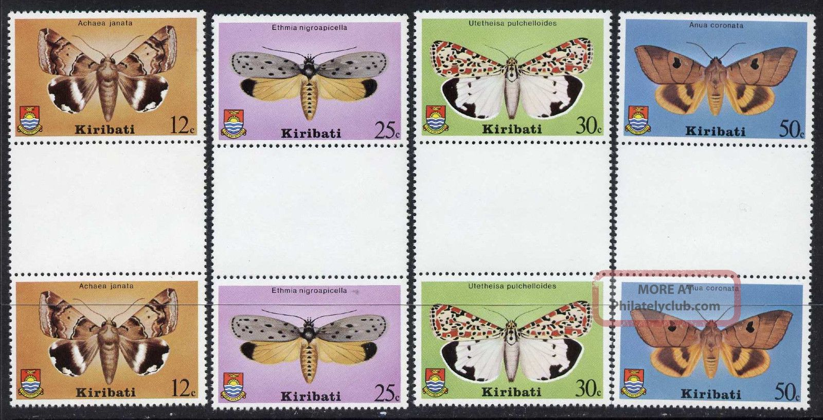 Kiribati 356 - 9 Gutter Pairs Butterfly Australia & Oceania photo