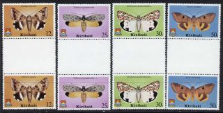 Kiribati 356 - 9 Gutter Pairs Butterfly photo