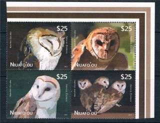 Niuafo ' Ou 2012 Owls Airmail Express Block 4 photo