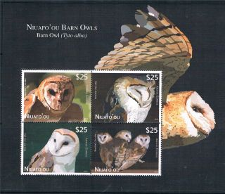 Niuafo ' Ou 2012 Owls Airmail Express Ms Issue photo