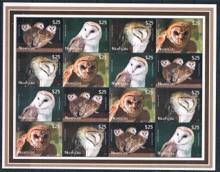 Niuafo ' Ou 2012 Owls Airmail Express Sheet Issue photo