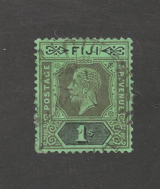 Fiji 103 (sg 238) Vf - 1922 1sh Blk Emerald - King George V photo