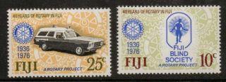 Fiji Sg530/1 1976 Rotary photo