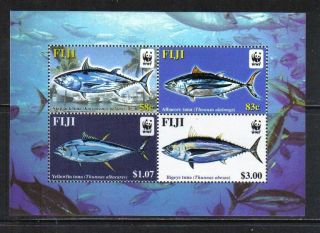 Fiji 2004 Wwf Tuna Ss - - Attractive Marine Life/fish Topical (1006) photo