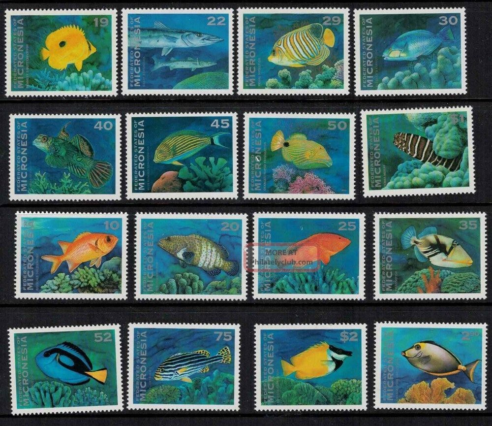 Micronesia 1993 - 1994 Sc 156 - 167 Marine Life Fish Coral Australia & Oceania photo