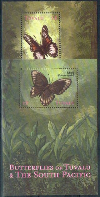 Tuvalu 2000 Butterflies Sg Ms932 Fine photo