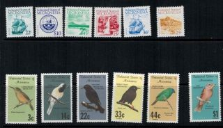 Micronesia 1985 - 1988 Sc 31 - 39,  C34 - C36 Ships Birds photo