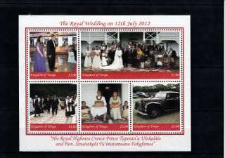 Tonga 2012 Royal Wedding 5v Sheet Hrh Crown Prince Tupouto ' A Ulukalala photo