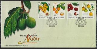 Rare Fruits Of Malaysia 1998 Breadfruit Pulasan Asam Geluger Plum Mango Fdc photo