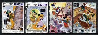 Bhutan 553 - 6 Disney,  A Tramp Abroad,  Rapunzel,  Ameripex O/p,  Horse photo