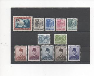 Indonesia - 12 Assorted - 78 - 451 - - 1949 - 58 photo