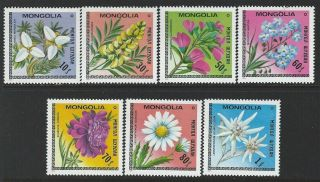 Mongolia 1979 Sc 1055 - 1061 Flowers photo