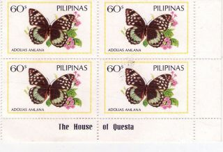 1984 Philippines Butterfly B/4 photo