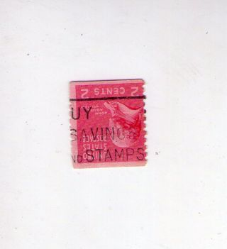 1938 Usa John Adams 2c Inverted Cancellation photo
