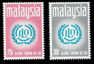 50th Anniversary Of International Labour Malaysia 1970 (stamp) photo