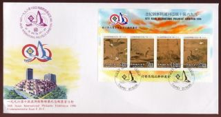 China Taiwan 1996 Geese Sheet On Illustrated Fdc photo