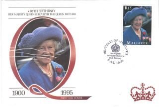 Maldive Is 1995 Queen Mother Stamp First Day Cover Ref:cw160 photo