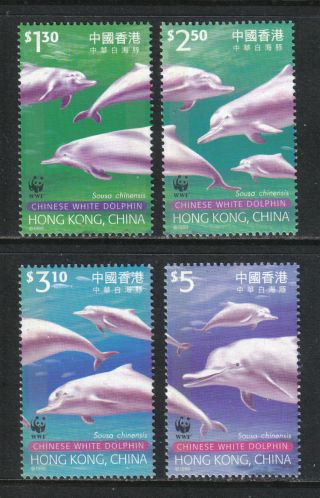 Hong Kong 1999 Chinese White Dolphins - - Attractive Animal Topical (875 - 78) photo