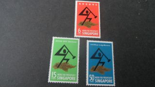 Singapore 1968 Sg 98 - 100 National Day - - - Post - - - photo