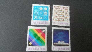 Singapore 1977 Sg 315 - 318 Singapore Science - - Post - - - photo