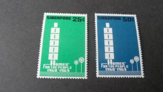 Singapore 1969 Sg 119 - 120 100000 And Slogan - - Post - - - - photo
