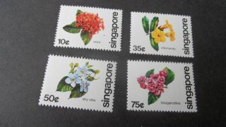 Singapore 1980 Sg 392 - 395 National Tree Day - - Post - - - - photo